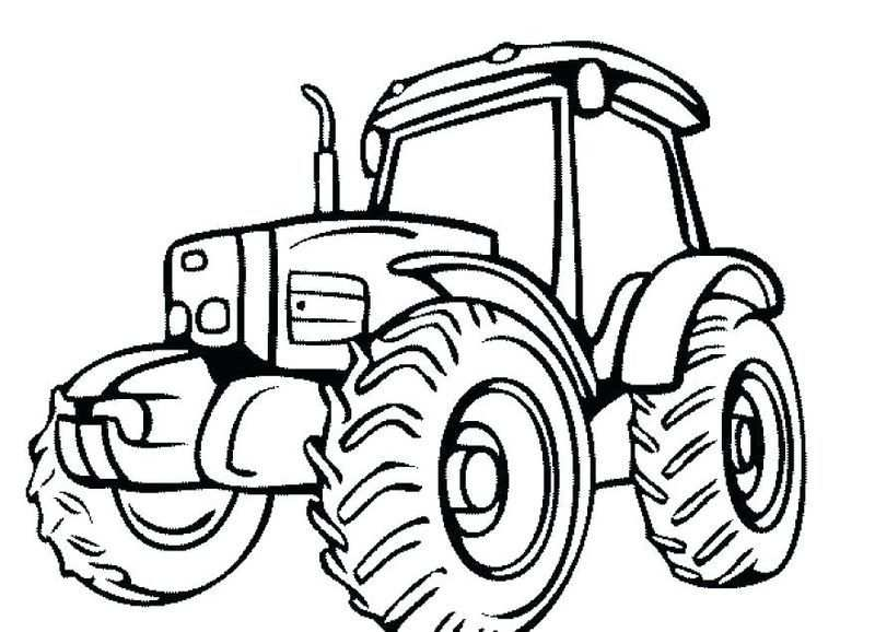 Printable Tractor Coloring Pages For Kids With Images Tractor