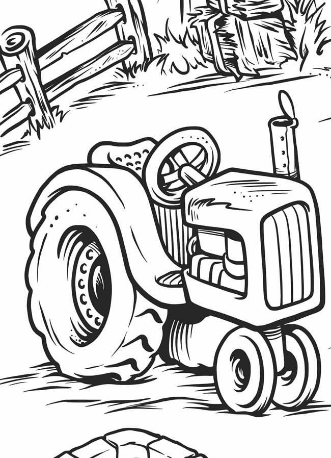 Farm Poster Tractor Coloring Pages Farm Coloring Pages