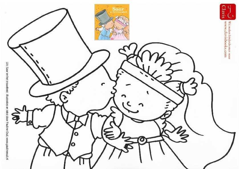 Kleurplaat Saar En Het Trouwfeest Pauline Oud Illustraties