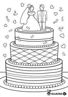 Kleurplaat Bruiloft Kleurplaten Bruiloftsideeen Bruiloftdecoratie