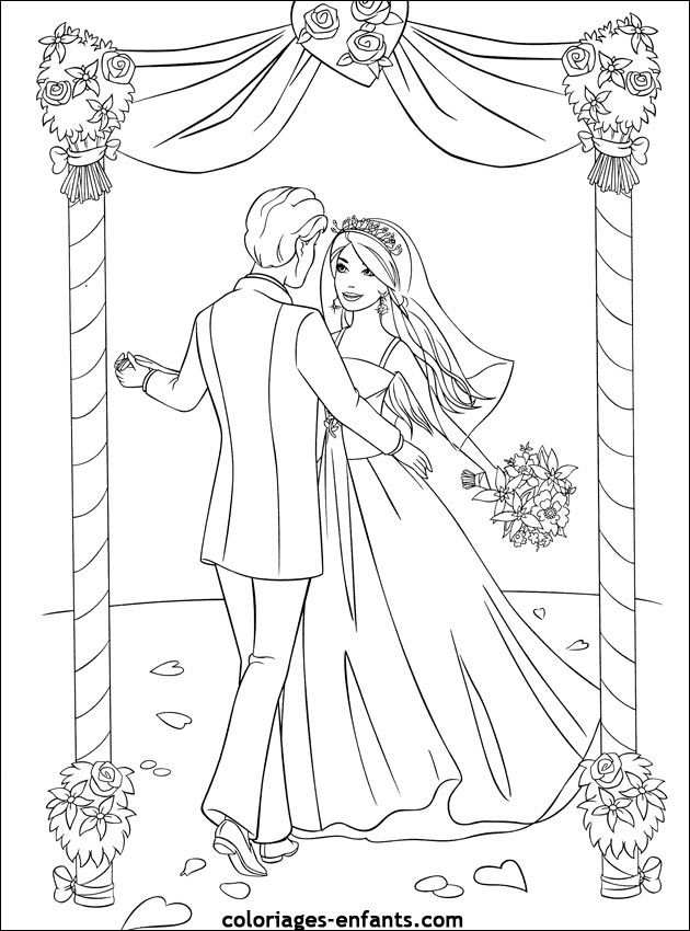 Trouwen Kleurplaat Google Search Coloriage Mariage Coloriage