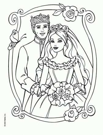 Kleurplaat Bruiloft Barbie Coloring Pages Wedding Coloring