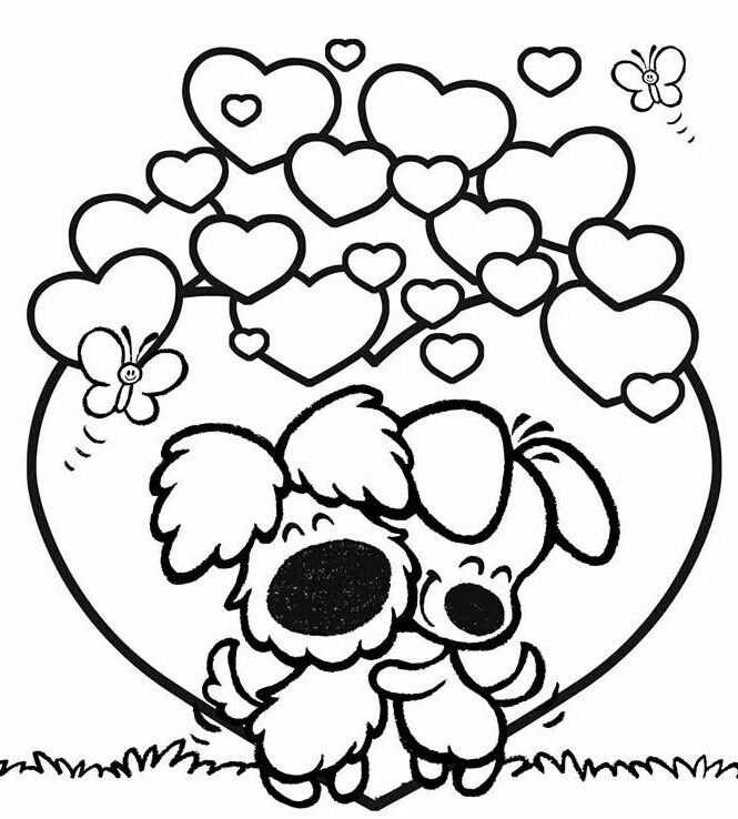 Woezel En Pip Coloring Page Valentijnen Kleurplaten En