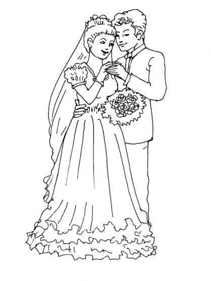 Mariage 2 Thema Bruiloften Kleurplaten En Trouwen