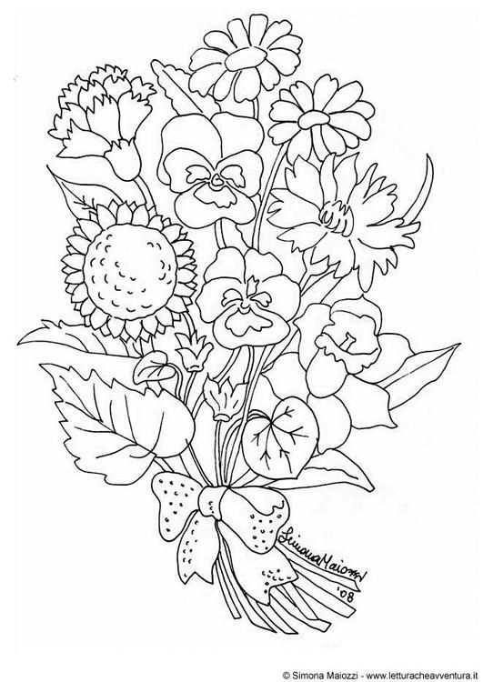 Pin Op Bloemen Kleurplaat
