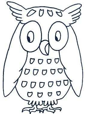 Kleurplaat Uil Owl Coloring Pages