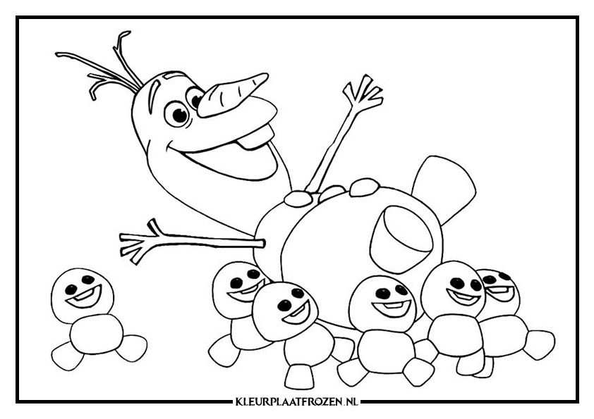 Olaf Frozen Kleurplaat With Images Frozen Coloring Pages