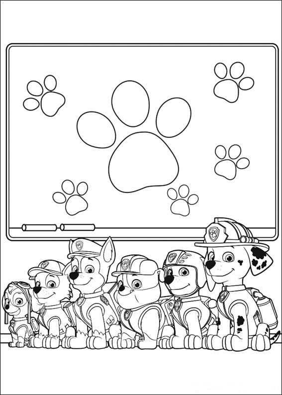 Paw Control Kleurplaat Kleurplaten Gratis Kleurplaten En Disney