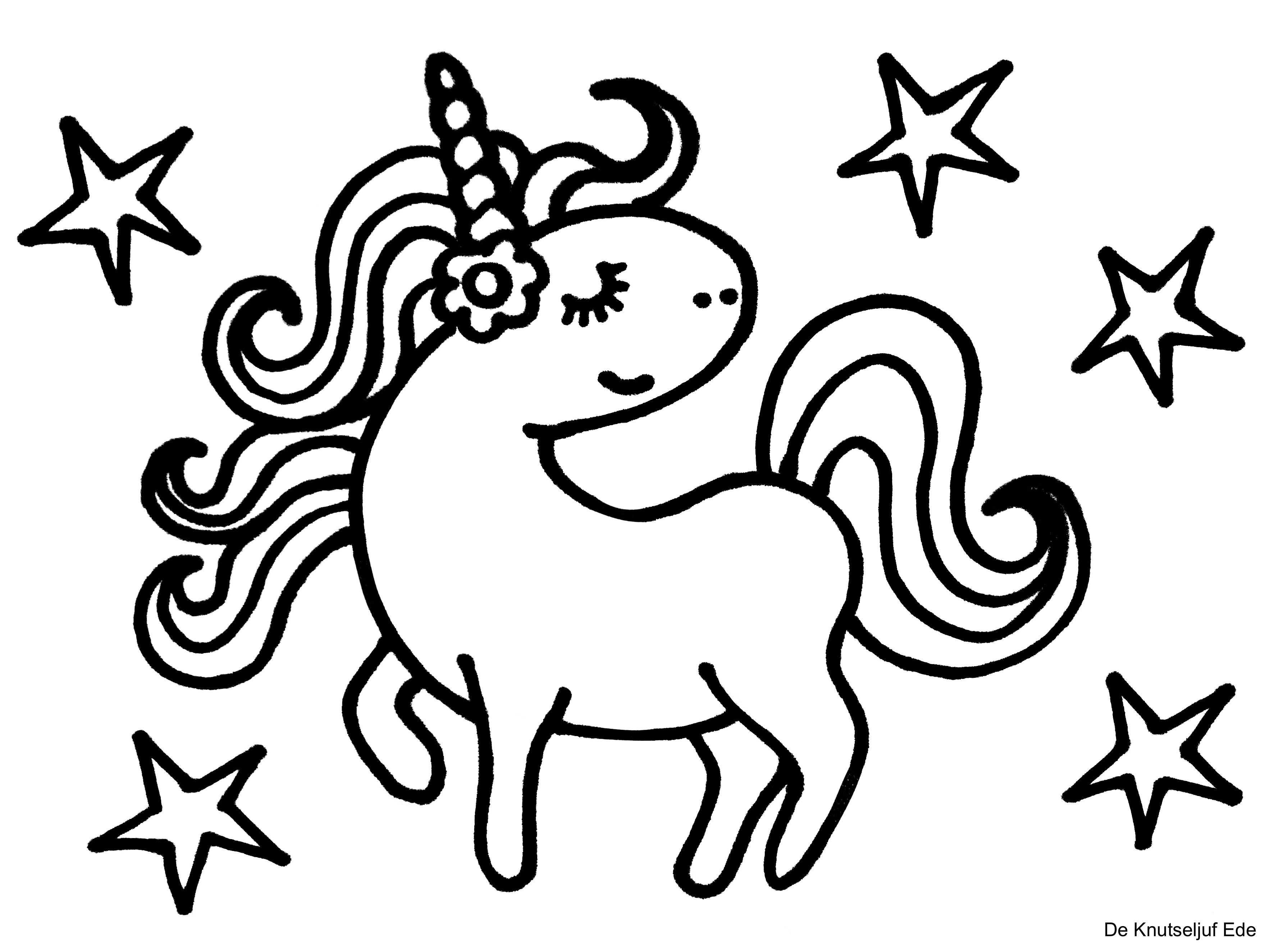 Kleurplaten Eenhoorns Unicorns Met Afbeeldingen Kleurplaten