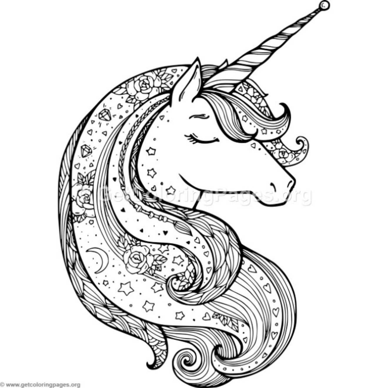 kleurplaat unicorn mandala