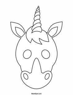 Printable Unicorn Mask To Color With Images Unicorn Mask