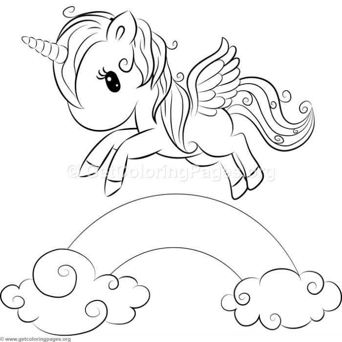 kleurplaat unicorn met prinses