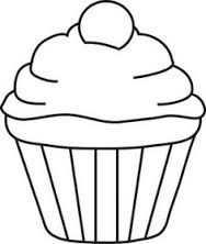 Cupcake Kleurplaat Google Zoeken Knutselen Thema Feest