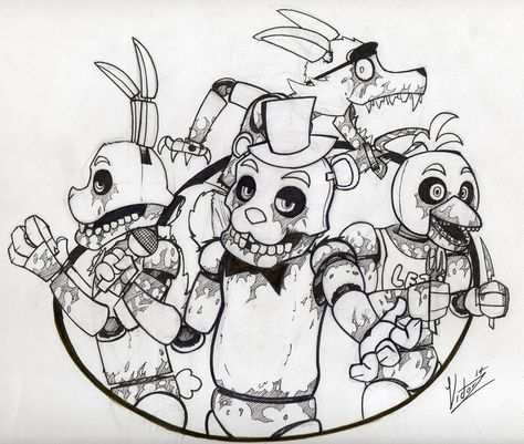 Five Nights At Freddy S Coloring Pages Black And White Coloring