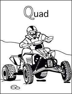 Alfabet Kleurplaat Q Van Quad Met Afbeeldingen Alfabet