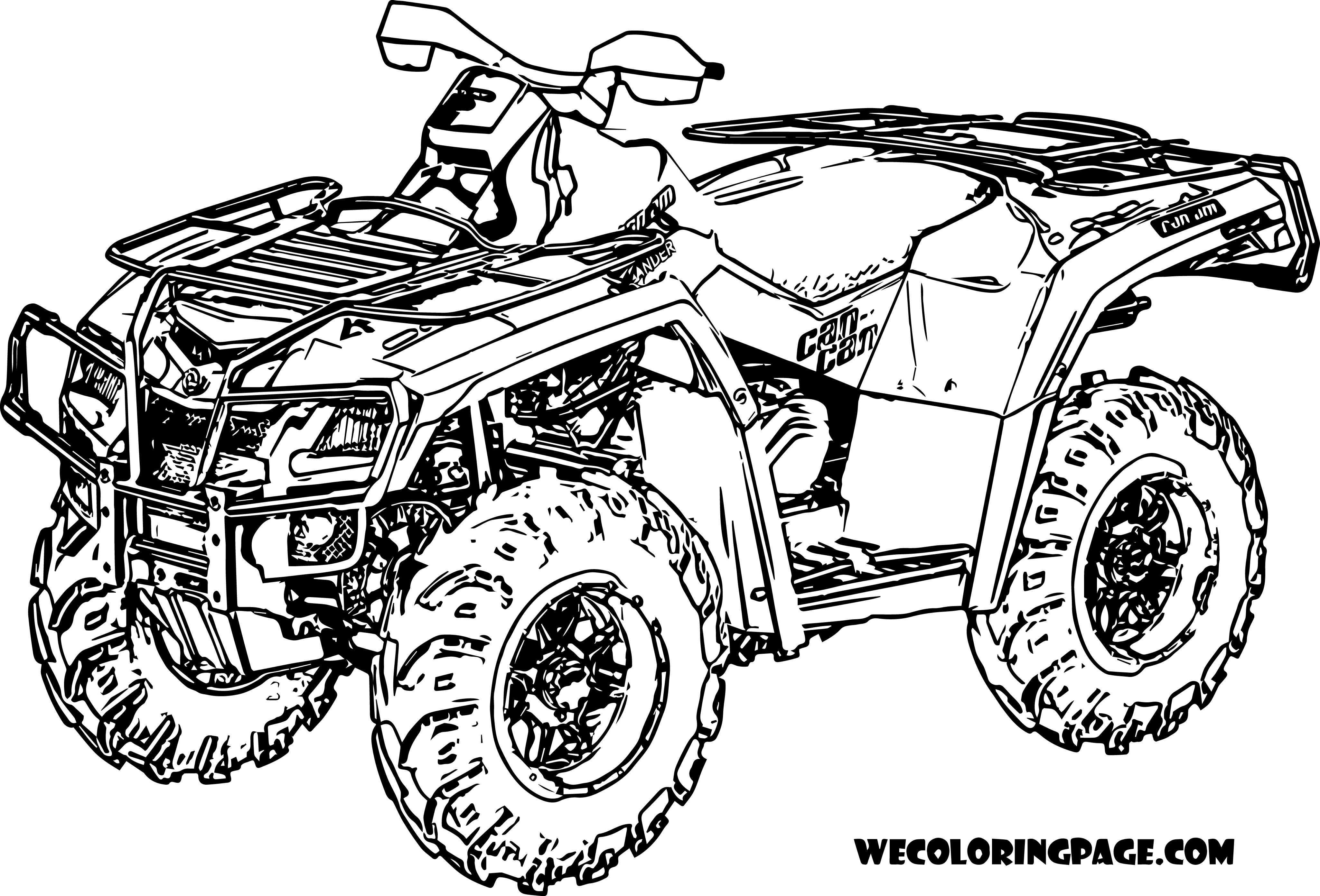 Quad En Action Coloriage Quad Coloriage Coloriage Moto
