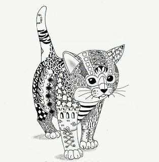Kitten Van Ben Kwok Coloriage Chaton Coloriage Mandala Animaux