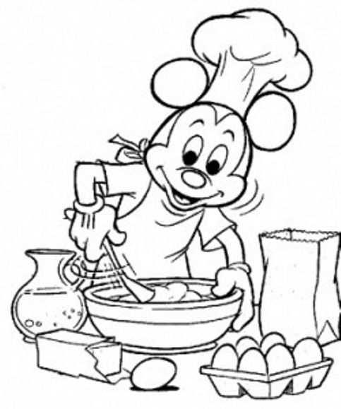 Kleurplaat Koken Mickey Google Zoeken Disney Kleurplaten