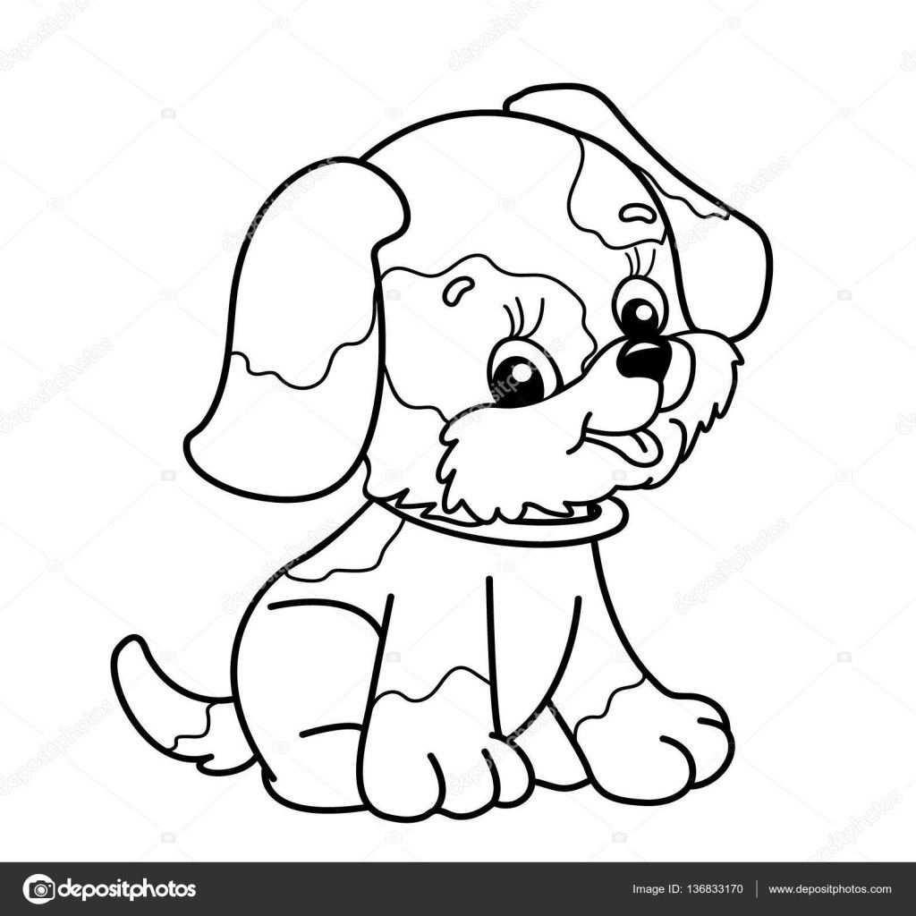 Tekeningen Schattig Kleurplaat Pagina Overzicht Van De Hond Van