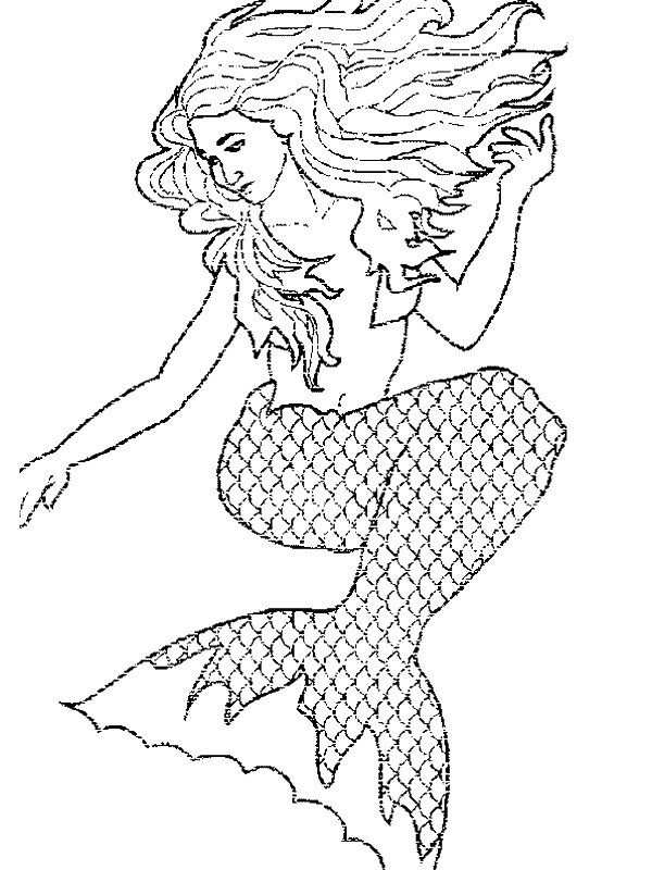 Zeemeermin Kleurplaat With Images Mermaid Coloring Pages