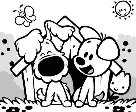Woezel En Pip Kleurplaten Kind Tekening Hond Tekeningen