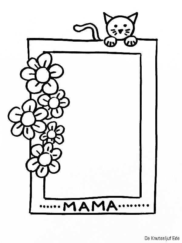 Kleurplaten Voor Mama Met Afbeeldingen Kleurplaten Vaderdag