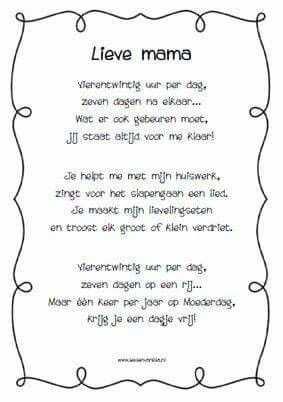 Afbeelding Van Moederdag Vaderdag Gedichtjes Door Coralie Collette