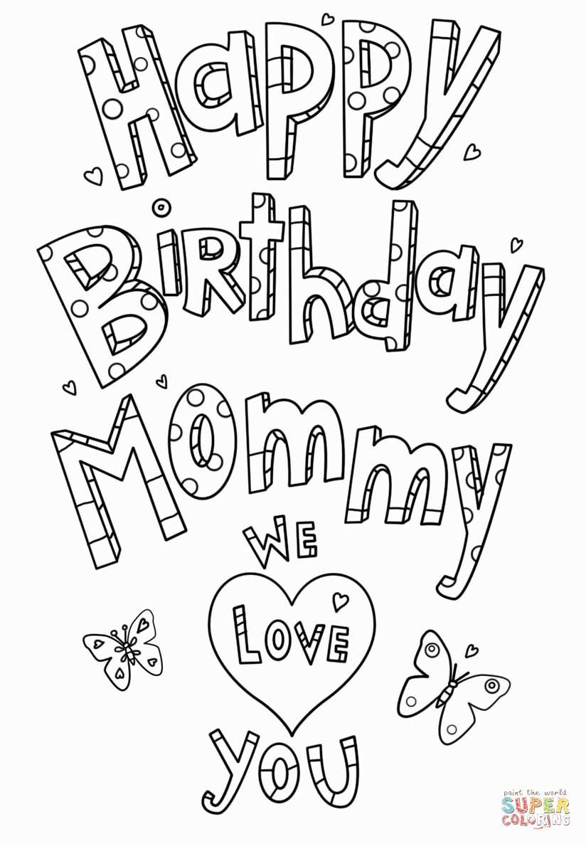 28 Happy Birthday Mommy Coloring Page In 2020 Met Afbeeldingen