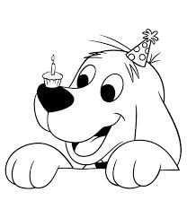 Hond Kleurplaat Google Zoeken Birthday Coloring Pages