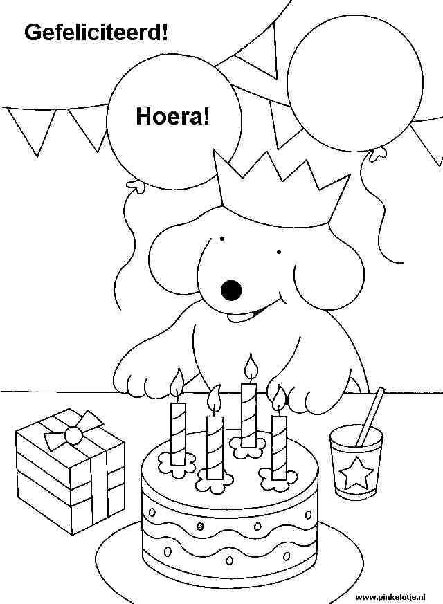 Kleurplaat Verjaardag Google Zoeken Knutselen Thema Feest