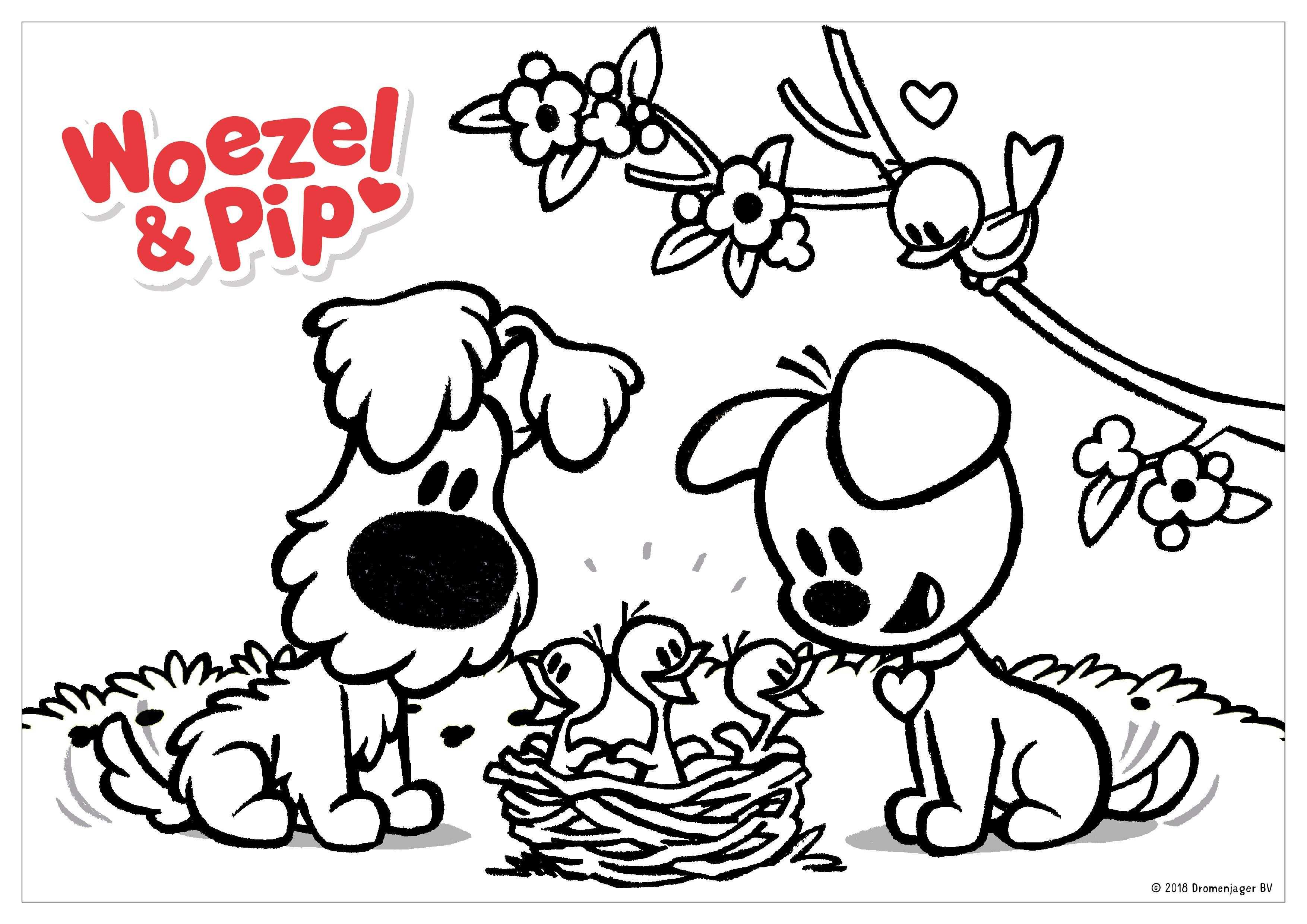 kleurplaat verjaardag met hond