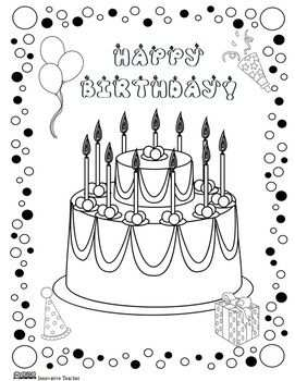 Birthday Coloring Page Freebie This Would Be Fun To Give This