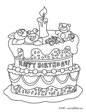 Geburtstagskuchen Zum Ausmalen Geburtstag Malvorlagen