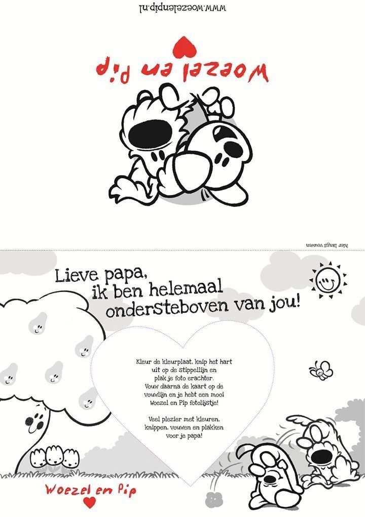 Woezel En Pip Peuter Knutselen Verjaardag Opa Knutselen Rond