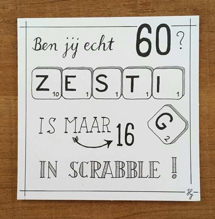 Gemaakt Door Heidi Geerdink Kaarten Maken 60 Jaar Kaart Ideeen