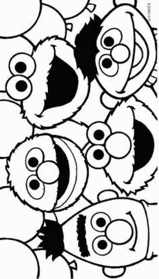 Print Sesamstraat Kleurplaat Childcare Childcare Cartoon