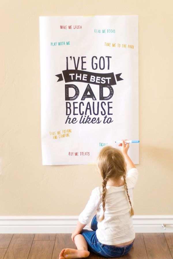 Father S Day Poster Schrijf Ernaast Op Waarom Papa De Beste Is