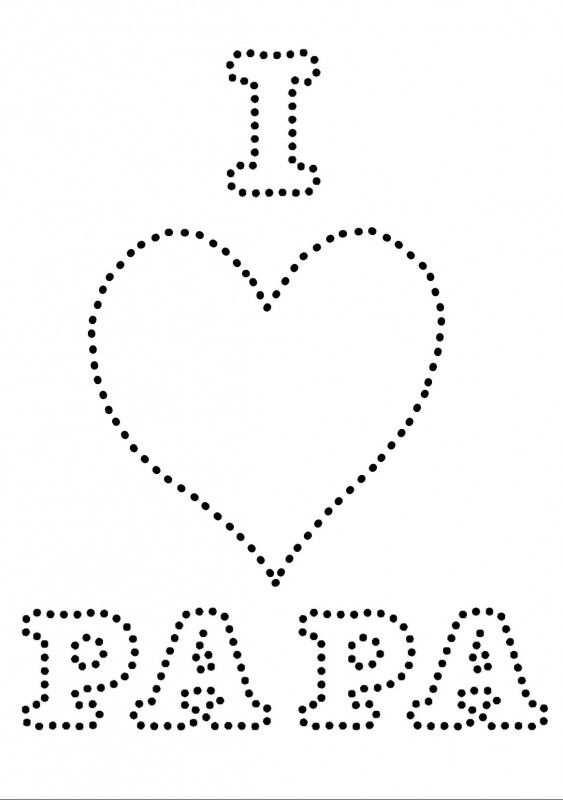 I Love Papa Fete Des Peres Broderie Sur Carte Creations Pour