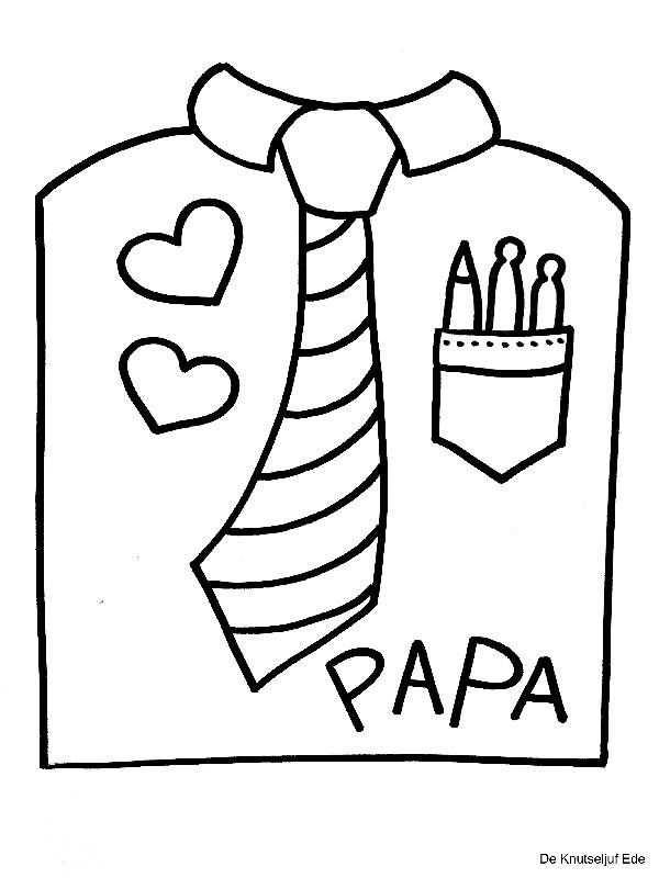Kleurplaten Vaderdag Papa Jarig Met Afbeeldingen Vaderdag