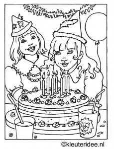 Kleurplaat Verjaardag Kleuteridee Nl Kleurplaten Thema Kleuren