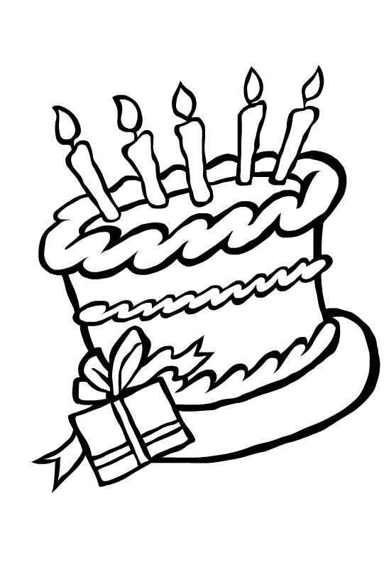 Kleurplaat Verjaardagstaart Kleurplaten Verjaardagskalender