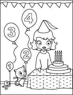 Kleurplaat Verjaardag Meisje 4 Jaar Kleurplaten Alfabet
