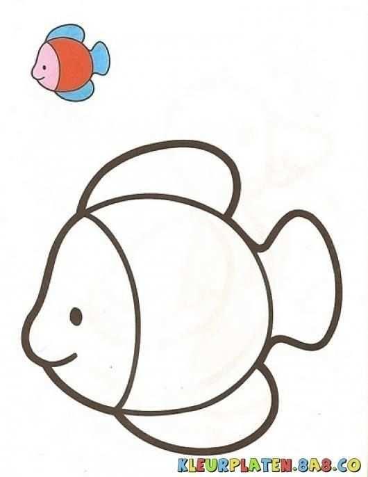Pin Van Mariya Dimitrova Op Deca Kleurplaten Vis Tekeningen