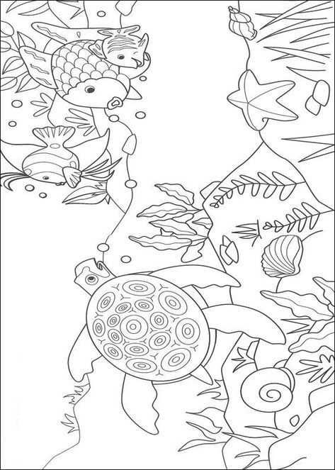 Kleurplaat Mooiste Vis Van De Zee Mooiste Vis En Zeeschildpad