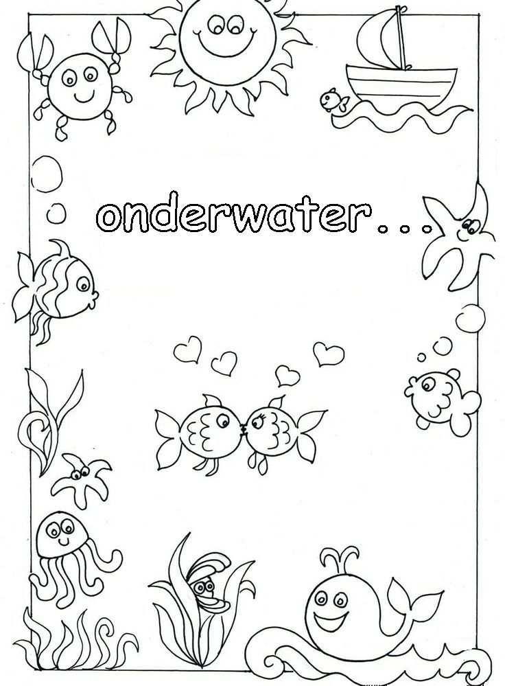 Waterdieren Kleurplaat Google Zoeken Onderwater Thema
