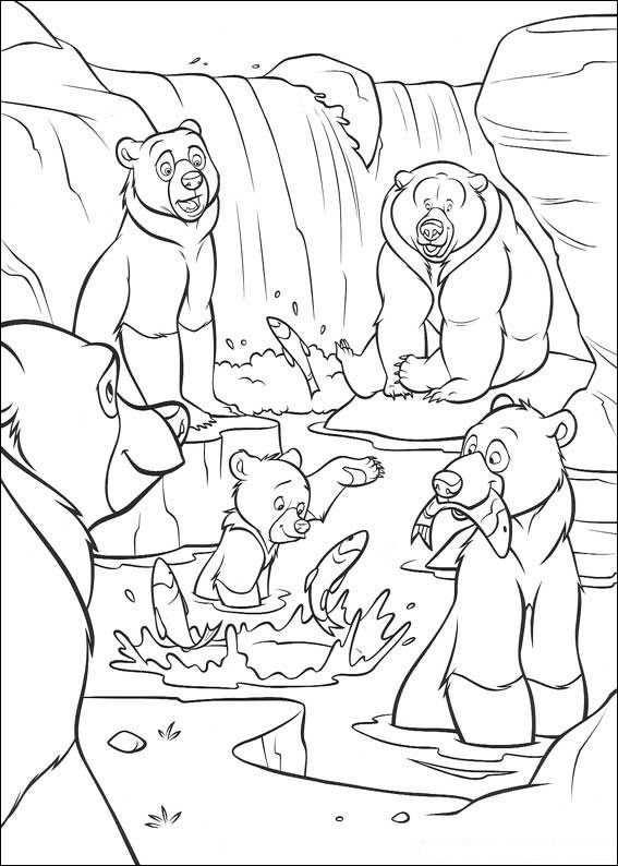 Kleurplaat Brother Bear Beren Vangen Vis Kleurplaten Disney