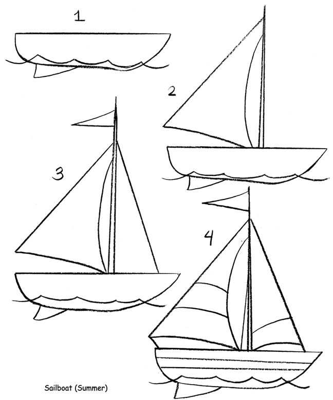Leuke Bootjes Om Te Tekenen Zeilboot Tekening Tekenen