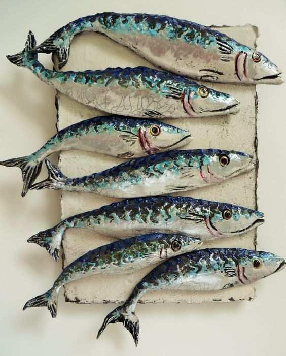 Shoal Of Mackerel Ii In 2020 Keramische Kunst