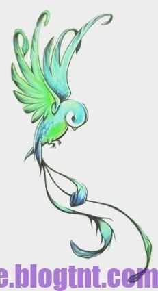 Vogel Tekeningen Vogeltekeningen Vogel Met Monster Kleurplaten