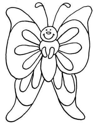 Kleurplaat Vlinder Fargelegging Og Bilder